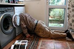 261-365 (Year 6) Head in the dryer (♔ Georgie R) Tags: utilityroom tumbledryer waleadbeshty pocketfilofax head lying floor