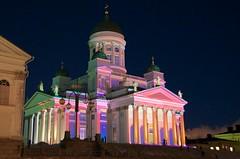 DR2_6151 (Riku Kettunen) Tags: winter light art luz suomi finland helsinki arte invierno fin talvi finlandia senaatintori valo taide helsinkicathedral helsingintuomiokirkko catedraldehelsinki luxhelsinki