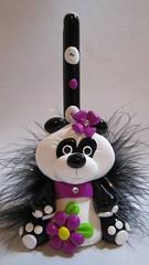 panda bear pen holder (Starky Art) Tags: cutegifts pandagifts giftsforanimallovers pandapen pandabearpen pandapenholder polymerclaypanda pandabeargifts handcraftedpanda