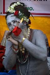 Naga Sadhu smoking #2