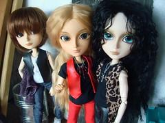 Kuro, Angelo y Teo 16 (Lunalila1) Tags: gay black club outfit track dj hole handmade teo sage v wig shade angelo kuro natsume