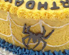 Spiderman Cake Ethan V (Doha Sam) Tags: birthday red party white home cooking yellow cake digital umbrella studio nikon raw flash spiderman indoors diffuser doha qatar d80 strobist lumopro colorperfect perfectraw samagnew smashandgrabphotocom lp160 colorpos wwwsamagnewcom maketiff