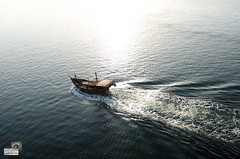 ship (iBaraa) Tags: travel bridge sea wild sky sun love water lens ed nikon ship g go nikkor far f28 2470mm d7000