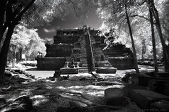 The Phimeanakas (dinno19) Tags: white black dark ir temple mono ancient cambodia long exposure khmer shadows kingdom siem reap thom infrared angkor tones seam sandoval dinno phimeanakas benro 850nm
