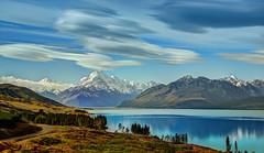 The Road to Mount Cook along Lake Pukaki (Stuck in Customs) Tags: new travel newzealand mountains southwest clouds digital island photography blog high dynamic stuck pacific january unescoworldheritagesite photoblog zealand software processing southisland fjord imaging milfordsound range southernalps aotearoa hdr tutorial trey travelblog meteorology customs greenstone mountcook fiordlandnationalpark lenticularclouds ratcliff tewaipounamu 2013 piopiotahi hdrtutorial stuckincustoms treyratcliff maindivide photographyblog stuckincustomscom tewhipounamu nikond800 tewakaamaui