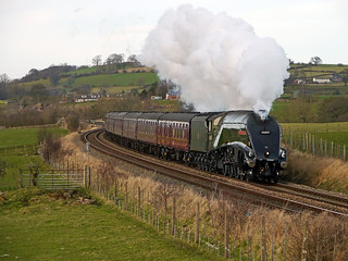 LNER A4 Class 4-6-2 No 60009 (Union of South Africa) in charge of