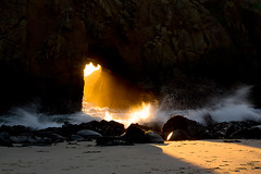 Tunnel of Light II (markvcr) Tags: ocean california light sunset rock waves arch tunnel stack geology pfeiffer pfeifferbeach weathering abigfave coth5 rememberthatmomentlevel1 rememberthatmomentlevel2
