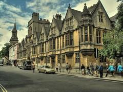 OXFORD COLLEGE ON MAIN STREET (deepfoto) Tags: college fuji oxford hdr landscapearchitectre