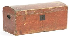 11. 19th Century Dome Top Carriage Trunk