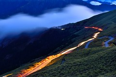 Coming and Going @ Mt. Hehuan  (Vincent_Ting) Tags: sunset sky mountain night clouds sunrise star glow taiwan trails galaxy flare formosa   gettyimages crepuscularrays startrails milkyway  seaofclouds            mountainhehuan             vincentting  hthehuan