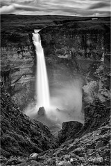 Haifoss (Darkelf Photography) Tags: haifoss waterfall foss iceland europe landscape valley fossardalur fossa river gorge cliff rocks mono monochrome blackandwhite bw lee filter canon 24105mm 5diii longexposure maciek gornisiewicz darkelf photography 2015