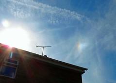 16Aug16 A Hint of Rainbow Colours (Daisy Waring World) Tags: sunshine rooftop sundog