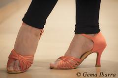 Dancer feet with orange sandals (GemaIbarra1) Tags: salsa dance dancing feet dancers floor dancer tango woman latin beautiful young black female art latino fashion style people performance activity performer blue light show elegance rumba high pose shoe orange