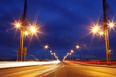IMG_9804 (AndyMc87) Tags: bridge ligthttrails longtime lightexposure outdoor theodorheussbrcke auto car mainz kastel mirror reflection flag wind