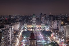 Plaza Congreso (karinavera) Tags: travel nikond5300 urban night place argentina buenosaires aerial plazacongreso emblematicplaces cityscape longexposure view city