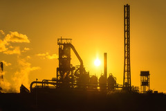 Sunset Silhouette, Port talbot steel works (technodean2000) Tags: sunset silhouette port talbot steel works nikon d610 lightroom uk south wales golden hour glow outdoor people