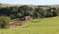 Emperor Hadrian tried but couldn't keep this one out. (Marra Man) Tags: tynevalleyline northernrail class142 142070 railbus pacer noddingdonkey 2n13 fort gilsland hadrianswall poltrossburnmilefort