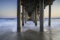 Underneath Huntington Beach Pier (lightchaser78) Tags: beach sunset landscape seascape pier california orangecounty longexposure ocean