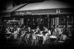 reminisce (MacroMarcie - scarce 'til mid-sept but not quittin) Tags: film 35mm vintage classic blackandwhite hss slidersunday monochrome paris france cafe coffee people life streetphotography street photography selfie butnotaselfie 365 project365 selfiebyproxy