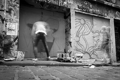 Graffiti Melbourne (thenorthernmonkey77) Tags: hosierlane melbourne australia oz downunder victoria graffiti streetart streetphotography street lane alley laneways art spraycan paint artist blackandwhite bw monochrome canon 70d 1770mm sigma