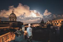 _DSC8068-Modifica-Modifica (syderianus) Tags: roma rome rooftop tetto della valle notturno nuvole clouds luna full moon autoritratto self prortrait santandrea nikond800 nightshot