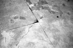Crack in the floor (Nils Kristofer Gustafsson) Tags: blackandwhite bnw ishootfilm retro rollei 400s lomo lomography sweden rebro keepfilmalive filmisnotdead filmphotography film rodina adonal yashica electro cc 35mm