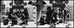 The Dark Knight  Heir to the Demon  Prologue  Part 19 (Supremedalekdunn) Tags: lego batman the dark knight volume 4 heir demon ras alghul robin red hood dick grayson nightwing jason todd tim drake bruce wayne dcsg thefilmgmr thelegoguy legosuperheroes superman justice league wonder woman green lantern indoor talia blackandwhite monochrome