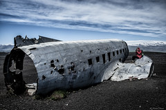 Icelandic Photography (michael.mu) Tags: leica m240 35mm leicasummicronm1235mmasph iceland nordicvisitor slheimasandur dc3 abandoned colorefexpro lr5 lightroom airplane beach photographer