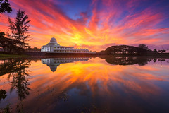 An-Nur Mosque (Adly Wook) Tags: motion malaysia mosque sky serene sunrise sighray travel trip texture tone atmosphere wallpaper water art awesome landscape canon asian nature natural 6d dramatic longexposure lake photography perak seriiskandar composition cloud beautiful bluesky blue getty