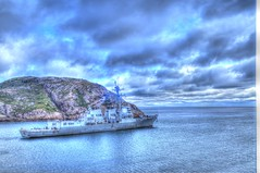 USS Bulkeley headed out to sea (Ross A Craig) Tags: stjohnsnewfoundland canadian navy united states hmcs fredericton athabaskan signal hill