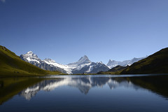 Bachalpsee Switzerland (JohannesMayr) Tags: bachalpsee lake see spiegelung reflections grindelwald first mountain switzerland schweiz alps alpen kanton bern schreckhorn wetterhorn lauteraarhorn finsteraarhorn overlook aussicht berge gletscher schnee glacier snow felsen horizont