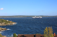 windy (Leifskandsen) Tags: wind ship oslofjorden blow gale ferry boat house coast norway camera canon living leifskandsen skandsenimages scandinavia skandsen sea summer