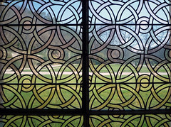 Glass Near Chapter House, Abbaye de Fontenay