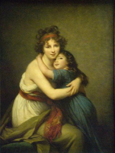 Le Brun - Self Portrait w/ daughter Julie