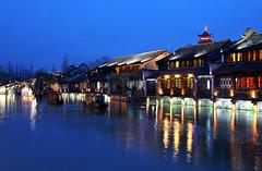 Boats coming in (RachelGouk) Tags: china longexposure travel holiday history night shanghai traditional chinese hangzhou yangtze oriental jiangnan wuzhen watertown zhejiang waterscape watervillage travelinchina travelinshanghai daytripfromshanghai travelideaschina