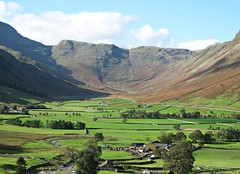 Valley (Lune Rambler) Tags: trees panorama mountains farmhouse rural landscape beck farming lakedistrict scenic fells bracken agriculture drystonewalls langdale lakedistrictnationalpark lunerambler