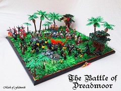 CCCX The Battle of Dreadmoor (Mark of Falworth) Tags: trees tree lego battle scene jungle tropical troops lcc moc cccx