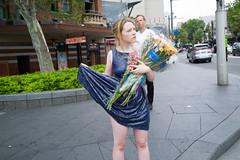 Darlinghurst Road, Kings Cross - Sydney (2012) (Ho Hum) Tags: street flowers girl photography dress image candid sydney documentary australia pic reportage photojournalist