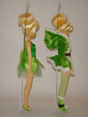 2011 vs 2012 Tinker Bell 10'' Dolls - Full Left Side View (drj1828) Tags: winter outfit dolls tinkerbell disney fairies 2012 10inch deboxed flutterwings secretofthewings