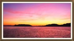 Striking Palm Beach Sunrise (sunnypicsoz.com-Geoff Childs.) Tags: pink panorama beach crimson sunrise river dawn golden photo sailing view image scenic australia scene panoramic vista palmbeach pitwater barrenjoey waterreflections thebasin hawksbury marinescape mistyofgosford sunnypicsozcom geoffchilds