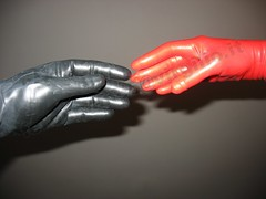 s046img0001 - The creation of latex (coppiainlatex) Tags: red italy black rot guanti strange clothing hands shiny italia hand dress mani rubber dressing creation gloves mano latex glove tight gummi rosso nero lattice gomma handschuhe lucente dfp guanto creazione dressingforpleasure feroxman attillato feroxman65 latexfromitaly latexitaly coppiainlatex