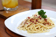 Pasta Aglio Olio (Jareeeeek) Tags: food cheese indonesia yummy pasta delicious fancy spaghetti bandung foodphotography