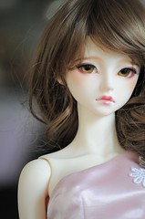Darcy (Darcy 1813) Tags: pink girl beautiful lady doll pretty dress gorgeous teeth lips curly wig bjd lovely glasseyes curlyhair darcy sophia aiko balljointeddoll faceup repunzel normalskin ndoll littlemonica