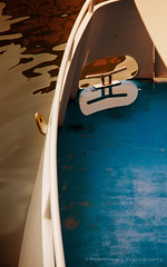 Blue (Phil Kirchmeier) Tags: color reflection texture water boat overcast deck manmade