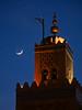 Marrakech (bdebaca) Tags: moon minaret luna koutoubia kutubia جامع المغرب alminar kutubiya الكتبية