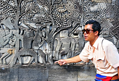 Professor Vudthe at Angkor Wat