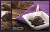 Brownie With Flaming Chocolate Drizzle (Kishia Talon) Tags: food orange purple chocolate hotchocolate flame brownie material d3 parabolic speedotron drizzle barnwood 105macro foodillustration foodlayout vboards