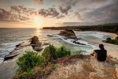 Enjoying the Sunset | Klayar, Pacitan
