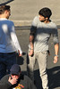 Zayn Malik shows off his new tattoos One Direction seen having lunch and exchange gifts outside the CBS Studios, before the taping of the 'X Factor' finale. Los Angeles, California- 20.12.12 JP