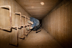 (Peter de Krom) Tags: tunnel falling bunker flashlight bas shaft